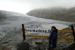 Le glacier du Rhône 2437m en suisse